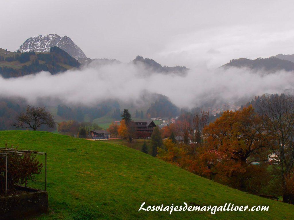 vistas desde el castillo de Gruyeres - Los viajes de Margalliver